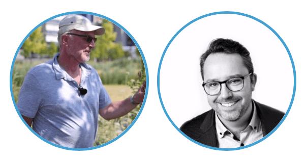 Dr. Marco Roos (l) en Hank Groenhof (r)